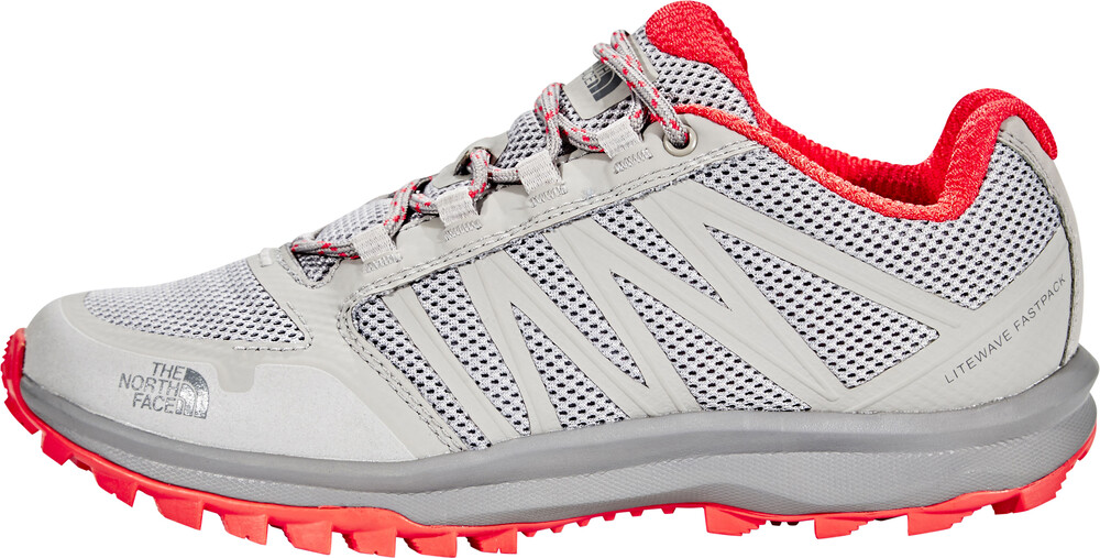 The North Face Damen Litewave Fastpack Trekking-& Wanderhalbschuhe, Grau (Foil Grey/Cayenne Red), 40 EU